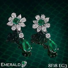 Have sparkling look by adorning emerald stunning earrings.