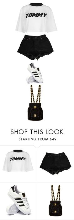 """""""Untitled #5545"""" by twerkinonmaz ❤ liked on Polyvore featuring Tommy Hilfiger, Levi's and adidas"""