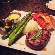 thatchillaxdude.com #thatchillaxdude  Steak lobster mashed potatoe and asparagus awesomeness.   #travel #instatravel #worldtravel #walkabout #wanderlust #travelfood #surfandturf #foodporn #foodaddict #foodie #instafood #cheatday #cheatdayeveryday