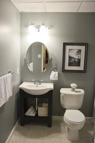 Inspirational Small Bathroom Remodel Ideas On A Budget - small bathroom design ideas on a budget, small bathroom makeover ideas on a budget, small bathroom remodel ideas on a budget, small bathroom renovation ideas on a budget Small Basement Bathroom, Budget Bathroom Remodel, Downstairs Bathroom, Bathroom Renovations, Home Remodeling, Bathroom Plumbing, Master Bathroom, Mirror Bathroom, Bathroom Vanities