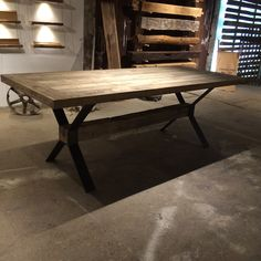 Beautiful reclaimed table! #table #timber #dining