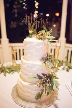 Glamorous Arkansas Winter Wedding | Pinterest | Three Tier Cake, Elegant  Wedding Cakes And Monogram Cake