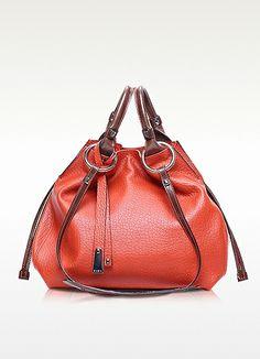 d94e9c1be692 Francesco Biasia Angie Leather Bucket Bag Red Shoulder Bags