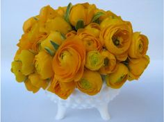 I like how the yellow ranunculus sort of looks like a rose that ate a cabbage. Also, great color.