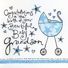 Congratulations On The Birth Of Your Grandson Card - Grandparents Congratulations Card