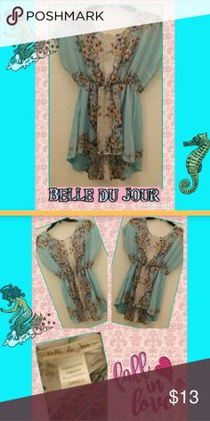 Belle Du Jour Cute blouse by Belle Du Jour up for grabs. This floral blouse will look great with jeans or shorts! In the fall and winter, add a brown cardigan or corduroy jacket! Bundle up by adding some jewelry from our closet and save! Belle Du Jour Tops Blouses