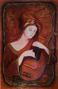 """""""Lyre"""" by Charles Lee, Original Painting, Acrylic on Canvas."""