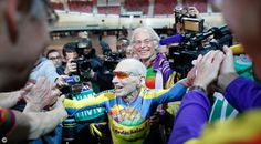 102 year old cyclist sets a world record in France