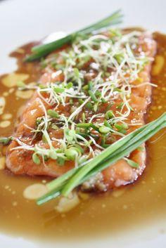 New Style Salmon Belly Carpaccio