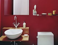 22 Stunning Marsala Bathroom Designs: 22 Stunning Marsala Bathroom Designs With Red Wall Color And White Bathroom Vanity And Water Closet Bathroom Color Schemes, Bathroom Colors, Bathroom Designs, Bathroom Ideas, Basement Bathroom, Bathroom Remodeling, Bathroom Inspiration, Remodeling Ideas, Blue Bathroom Vanity
