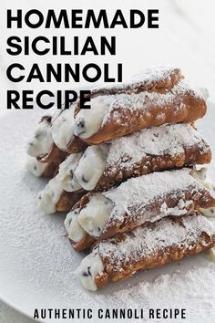 Sicilian Cannoli Recipe, Homemade Cannoli Recipe, Cannoli Dip, Cannoli Filling, Cannoli Dessert, Sicilian Recipes, Cannoli Cream, Tiramisu Recipe, Canolli Recipe