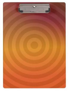 Orange metallic rings clipboard $34.20