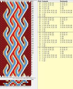 22 tarjetas, 5 colores, repite cada 8 movimientos / sed_357 diseñado en GTT༺❁