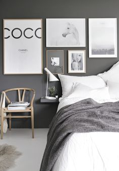 cool greys #naturalcurtaincompany #grey #decor #decoration #design #details #homedecor #homedeceration #bed #modern