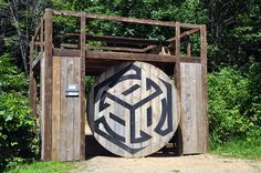 The most AWESOME gate idea ever! It spins! So cool.