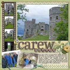 Castle - Scrapbook layout