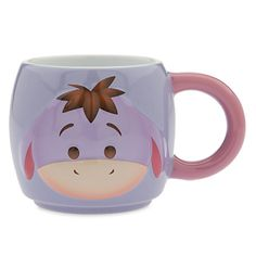 There's nothing gloomy about Eeyore on this Tsum Tsum character mug. The colourful design features Winnie the Pooh's friend as he appears in stackable soft toy form, with raised details and his tail on the other side. Disney Pixar, Disney Tsum Tsum, Disney Magic, Eeyore, Tsum Tsum Characters, Disney Coffee Mugs, Disney Cups, Tsumtsum, Winnie The Pooh Friends