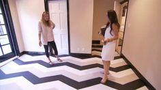 I love these black, white & tan striped floors from Million Dollar Decorators