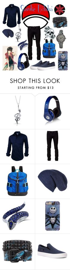 """Sasuke Uchiha Outfit"" by vampirekitty34 ❤ liked on Polyvore featuring Victoria Kay, Beats by Dr. Dre, Tiger of Sweden, Calvin Klein, Effy Jewelry, DC Shoes, Anne Klein, women's clothing, women and female"