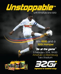 It is more than an event, by running the challenge, you'll unlock a true sense of accomplishment, have a great time and discover your football skills as you go through the drills. Be #Unstoppable  http://www.amatuks.co.za/fanzone/unstoppable?utm_campaign=Unstoppable2014&utm_medium=Social&utm_source=AmaTuksPinterest