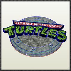 Teenage Mutant Ninja Turtles Logo Free Papercraft Download - http://www.papercraftsquare.com/teenage-mutant-ninja-turtles-logo-free-papercraft-download.html