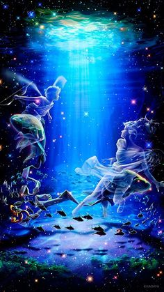 I didn't realize the pisces fishes tied together were hidden in the picture.
