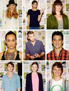 Cast of Divergent at Comic Con! Also I spot Hazel Grace and Augustus Waters