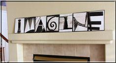 Imagine: alphabet photography creation