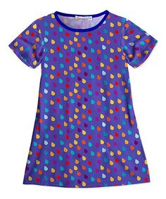 Look at this #zulilyfind! Purple Raindrop Short-Sleeve Shift Dress - Toddler & Girls #zulilyfinds