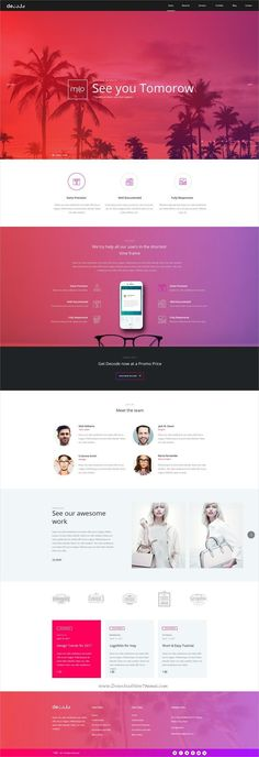 6dc19305e3 Decode is clean and modern  design PSD template for stunning  agency   website with