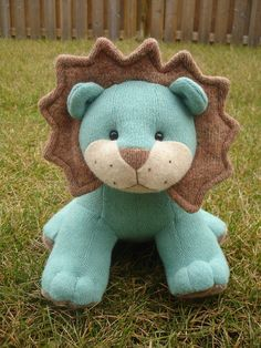 Stuffed wool lion from Recycled sweater plush - KikiKreation on Etsy | Something like this for Bodhi