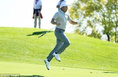 Super Spaniard Garcia is playing with a spring in his step  Read more: http://www.dailymail.co.uk/sport/golf/article-3816458/Ryder-Cup-2016-LIVE-standings-team-scores-golf-results-Team-USA-vs-Team-Europe.html#ixzz4Lwb1QRL1  Follow us: @MailOnline on Twitter | DailyMail on Facebook