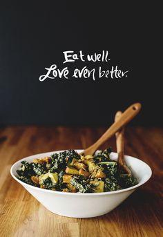 Kale Salad with Tahini Dressing...