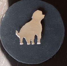 Retrato de perro de aguas holandés PITU de MiriamPenyas en Etsy
