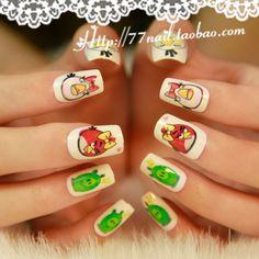 Aliexpress.com : Buy Square  short design nail art patch 24 false nail cut down price on Jessie's shop. $5.16