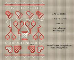 SAL Red, Love To Stitch part 11 with Needleroll