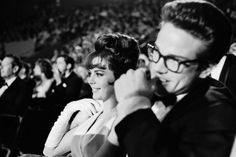 Natalie Wood and Warren Beatty, co-stars in the Elia Kazan-directed romantic drama, Splendor in the Grass, attend the 1962 Academy Awards.