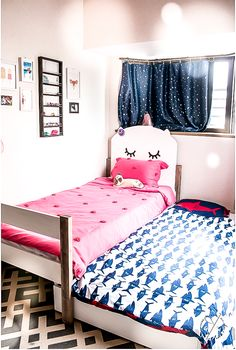 How to make a twin trundle bed with adorable kitten headboard. Plans by Jen Woodhouse