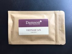 Damson 70% Lam Dong (Vietnam) has punchy dried fruit flavors: prune, apricot, fig. The astringency at the end adds to the figginess.