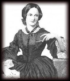 Charlotte Bronte (04/21/1816-1855) author of books which include JANE EYRE.
