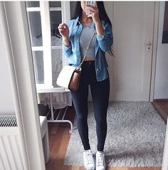 Cute outfit for running errands. - Cute outfit for running errands. Best Picture For e girl outfits For Your Taste You are looking f - Mode Outfits, Trendy Outfits, Casual Dinner Outfits, Casual College Outfits, Cute Date Outfits, Night Outfits, Outfits Spring, Cute Outfits For School, Outfit For Dinner