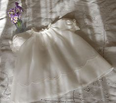 The Old Fashioned Baby Sewing Room: White Wednesday -Baby Rose Dress