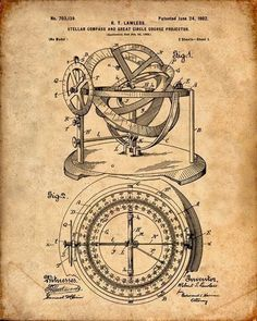 Nautical Compass Patent Print From 1902 - Compass - Patent Art Print - Patent Poster - Nautical Steering - Boating - Sailing Navigation door VisualDesign op Etsy https://www.etsy.com/nl/listing/223356130/nautical-compass-patent-print-from-1902: #patentart #patentartprints  #PatentArtPrints