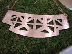 Amazing Etsy listing at https://www.etsy.com/listing/118366024/copper-plate-bib-necklace-with-double