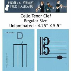 """Notes & Strings Cello Tenor Clef 4.25""""X5.5"""" Regular Size Flashcards by Notes & Strings. $12.98. The mission of Notes & Strings is excellence in providing quality music education products to music students around the world. Notes & Strings Music Flashcards are very popular with music teachers, music students, and music stores. These flashcards help make the learning of music easy and fun. Deborah Spiegel, a Suzuki violin teacher, designed these note reading and fingering music fla..."""