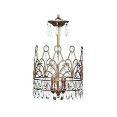 Crown Chandelier - Gold | Carousel Designs