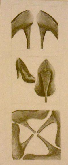 1st college art project- 2D Design  shoes <3<3