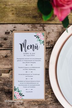 Love love this cute little rustic menu and place card designed by menkarte bohemian kraftpapier von zweihrnchen solutioingenieria Gallery