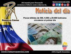 No todas las agencias bancarias públicas y privadas de los estados centrales,  donde comenzó a distribuirse el nuevo cono monetario por instrucción del Banco Central de Venezuela, disponían ayer de los billetes de nueva denominación. http://www.el-nacional.com/noticias/economia/pocos-billetes-500-5000-20000-bolivares-circularon-primer-dia_75863