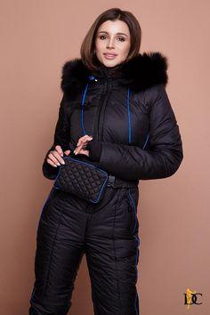 Ski Jumpsuit, Black Jumpsuit, Down Suit, Warm Pants, Winter Suit, Unisex Clothes, Fur Fashion, Sporty Style, Athletic Wear